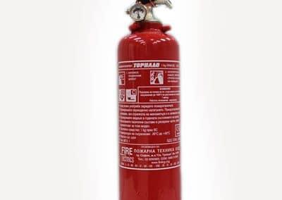 Пожарогасител прахов 1 кг АВС